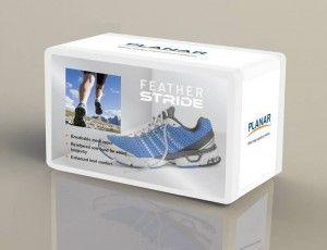 Planar LookThru Retail Display Box Shoe