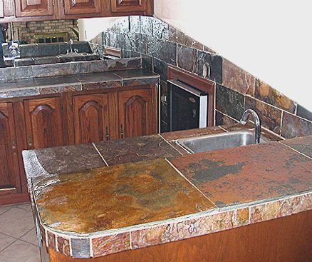 granite tile for kitchen countertops 1000 images about slate countertop on orange 6893