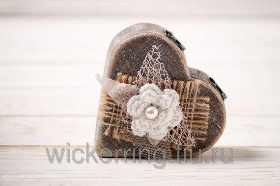 Шкатулка в виде сердца для обручального кольца, фото 4