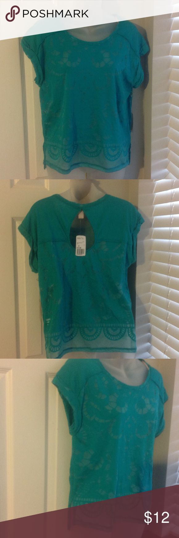 Forever 21 US S green see through women's top New short sleeve top Forever 21 Tops Blouses