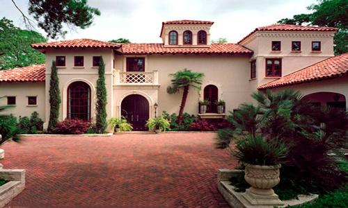 Casa con teja fachada casas modernas casas bellas y for Fachada de casas modernas con tejas