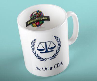 Avukatlara Özel İsimli Kupa Bardak