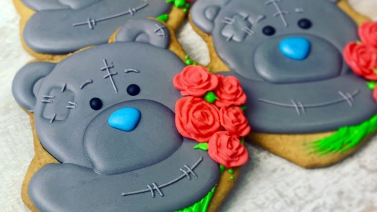 How to decorate TEDDY BEAR COOKIES by TaleCookies