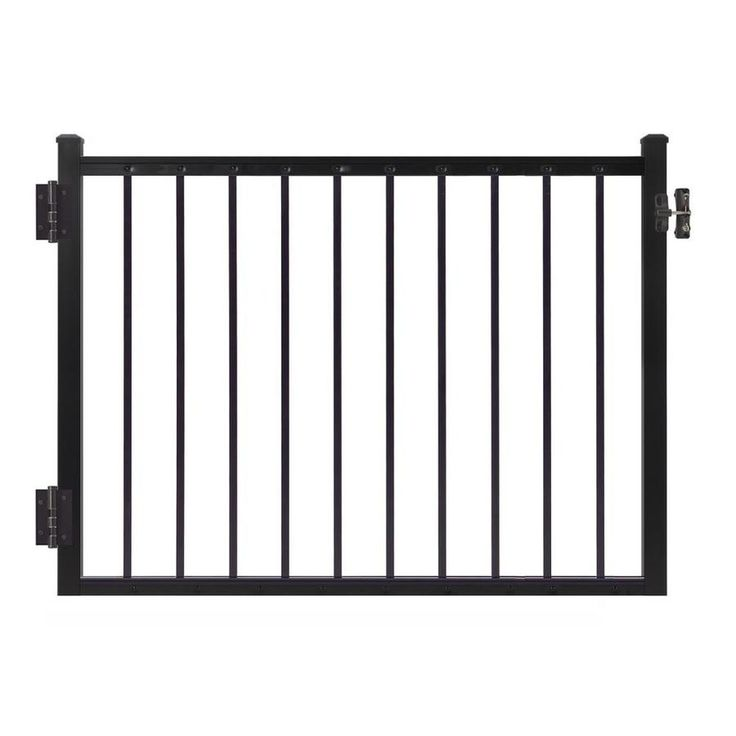 Best Gilpin Midway 47 In W X 33 In H Aluminum Deck Railing Gate 400 x 300