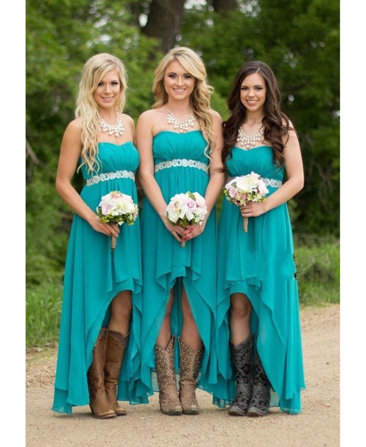 Aqua Blue Bridesmaid Dresses Long Chiffon Beaded Bridesmaid Dress Girls Sash Hi Low Bridesmaid Gowns Backless Vestido De Festa-in Bridesmaid Dresses from Weddings & Events on Aliexpress.com | Alibaba Group