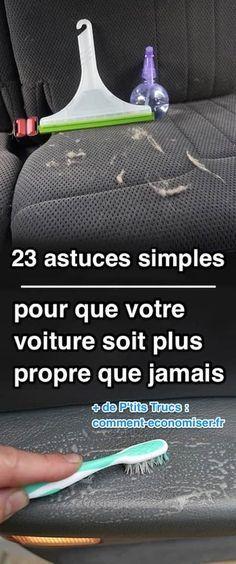 Entre les insectes écrasés sur la carrosserie, les taches sur les tissus intérieurs, et les jantes cracra, on ne sait plus où donner de la tête ! Heureusement, nous avons sélectionné pour vous 23 astuces pour avoir une voiture plus propre que jamais. Découvrez l'astuce ici : http://www.comment-economiser.fr/23-astuces-faciles-pour-avoir-voiture-plus-propre-que-jamais.html?utm_content=buffer21b00&utm_medium=social&utm_source=pinterest.com&utm_campaign=buffer