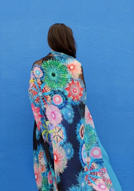Image of CORAL GARDEN SCARF