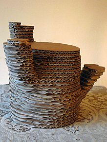 Creating structures by layering cardboard