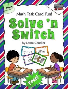 FREE Solve 'n Switch Partner Activity {math cooperative learning strategy}