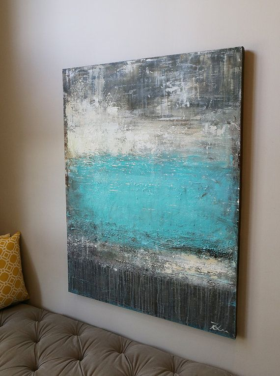 large painting,Modean abstract painting,large wall art,large painting,Original Fine Art Acrylic painting,gray ,teal,blue