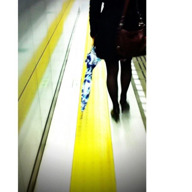 Blue umbrella, Omotesandou #station - @tetsuyak9- #webstagram