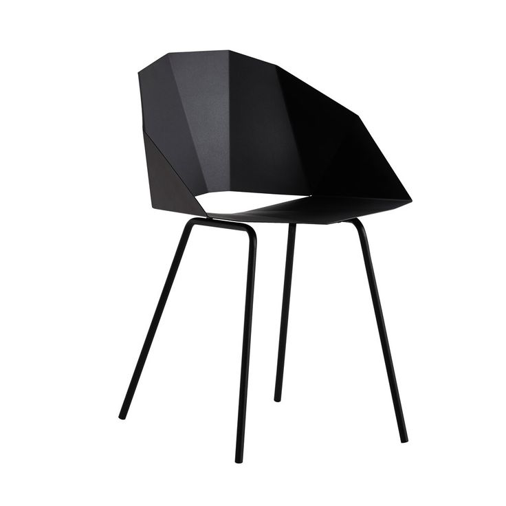 Woud+Buk+Dining+Chair+-+Powder+coated+metal+dining+chair+available+in+a+choice+of+colourways. Add+a+clean+and+simple+expression+to+your+interior+design+scheme+with+the+Woud+Buk+Dining+Chair. Inspired+by+the+Japanese+art+of+origami,+the+minimalistic+design+of+this+unique+dining+chair+is+made+from+one+piece+of+metal+and+is+folded+like+a+sheet+of+paper…