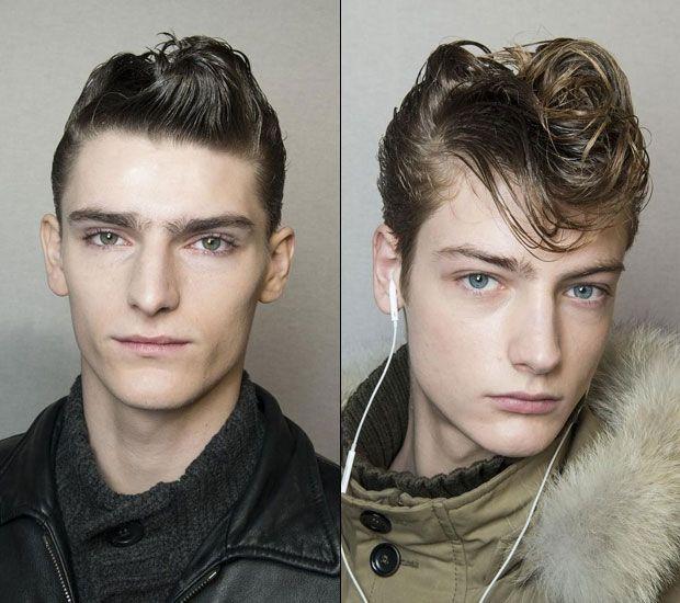 Men's retro haircut