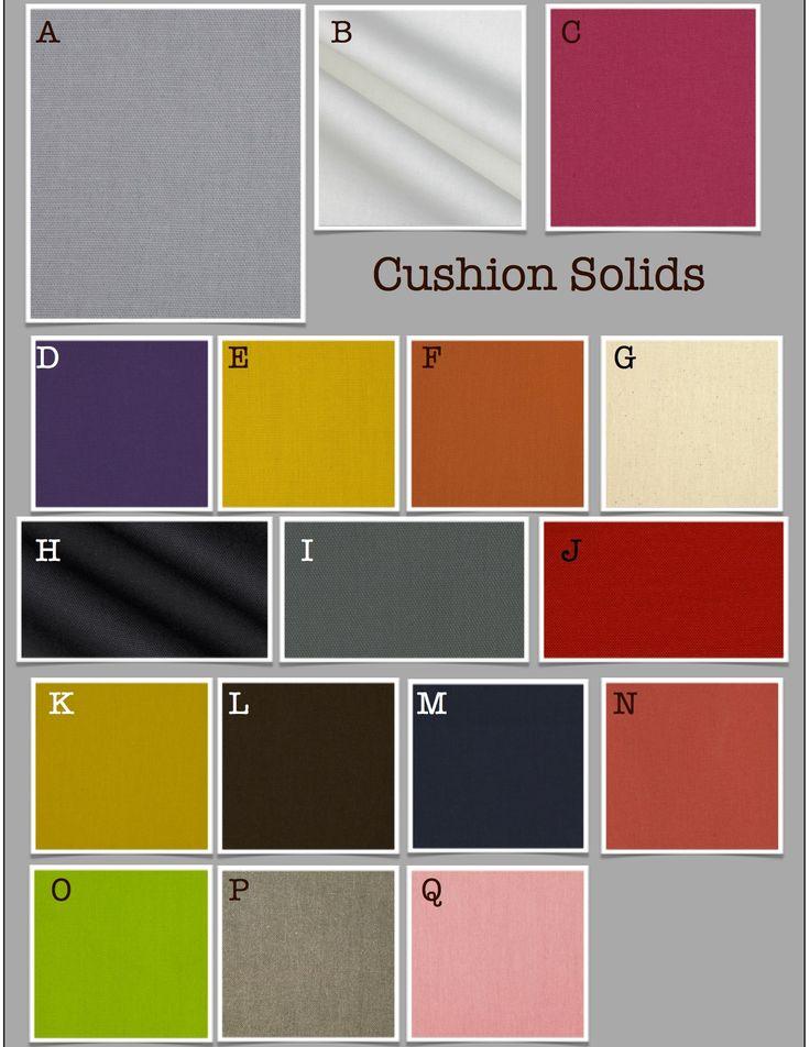 Custom Chair Cushions/ Glider Cushions/ Rocking Chair Cushions- Solid Colors