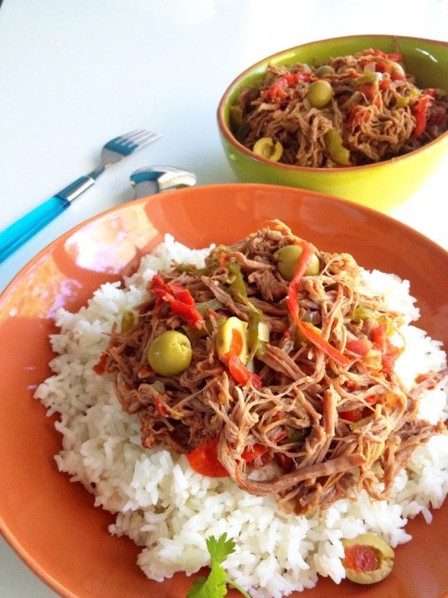 Ropa Vieja (Cuban Shredded Beef):14 Traditional Cuban Recipes That Will Wow Your Tastebuds via Brit + Co