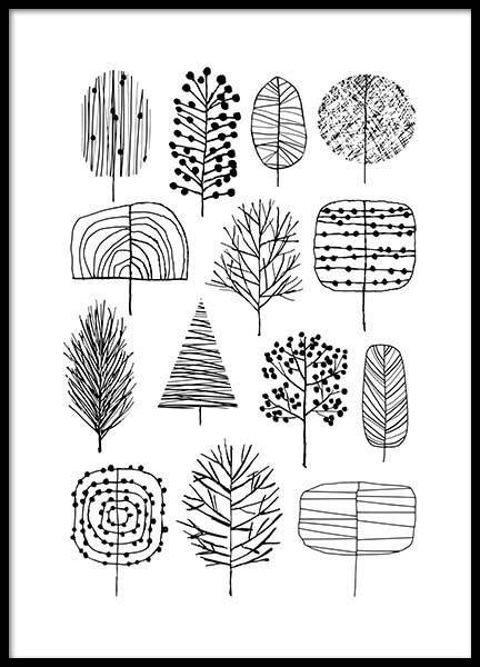 Trees Affiche dans le groupe Affiches / Formats / 30x40cm chez Desenio AB (3120)