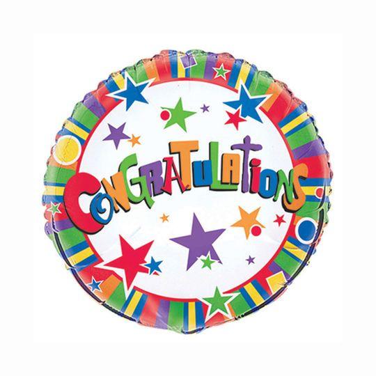"Foil Star Congratulations Balloon, 18"""
