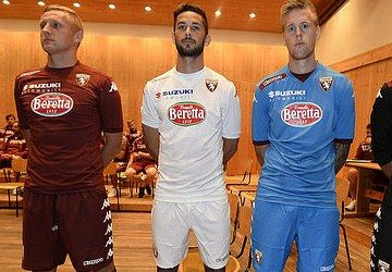 Torino FC 2014/15 Kappa Home, Away and Third Kits