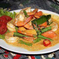 Рецепт тайской кухни: тайский красный карри с креветками