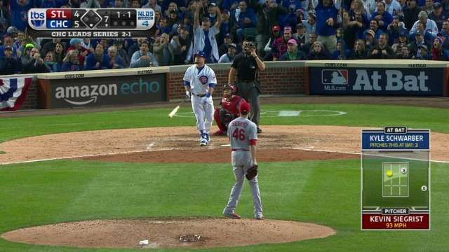 Kyle Schwarber may be Babe Ruth reincarnate, called his homer over the Wrigley scoreboard