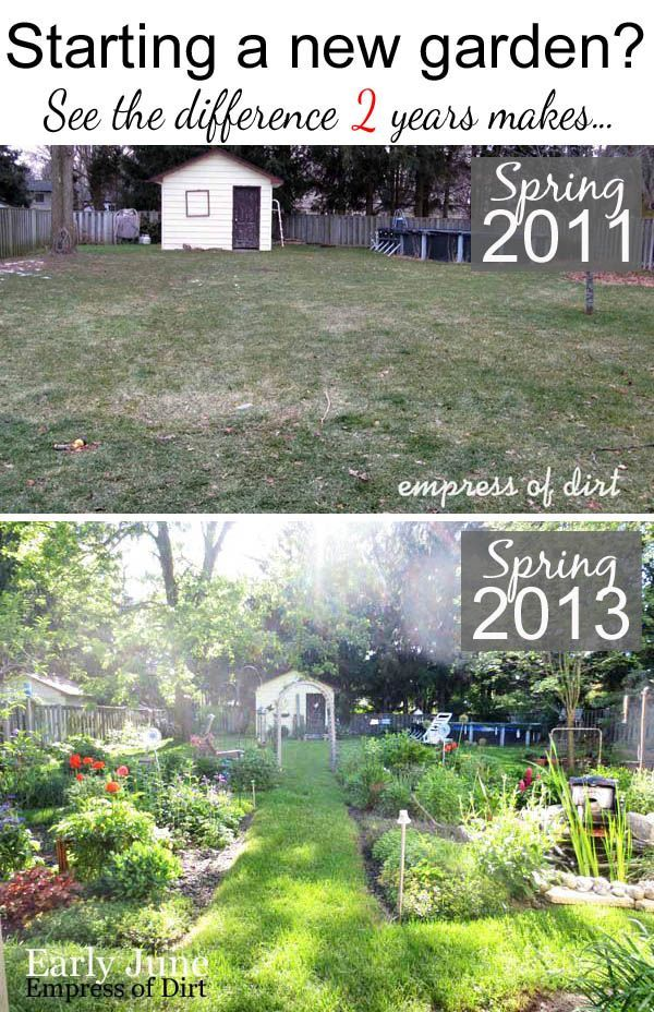 See the difference two years makes in a garden...