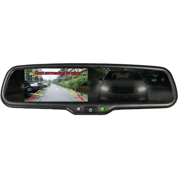 "BOYO Vision VTM43TCA 4.3"" OE-Style Rearview Auto-Dimming Mirror Monitor with Temperature & Compass"