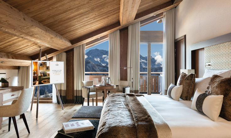 Room with a view at the 5 star Hotel Barriere Les Neiges Courchevel 1850