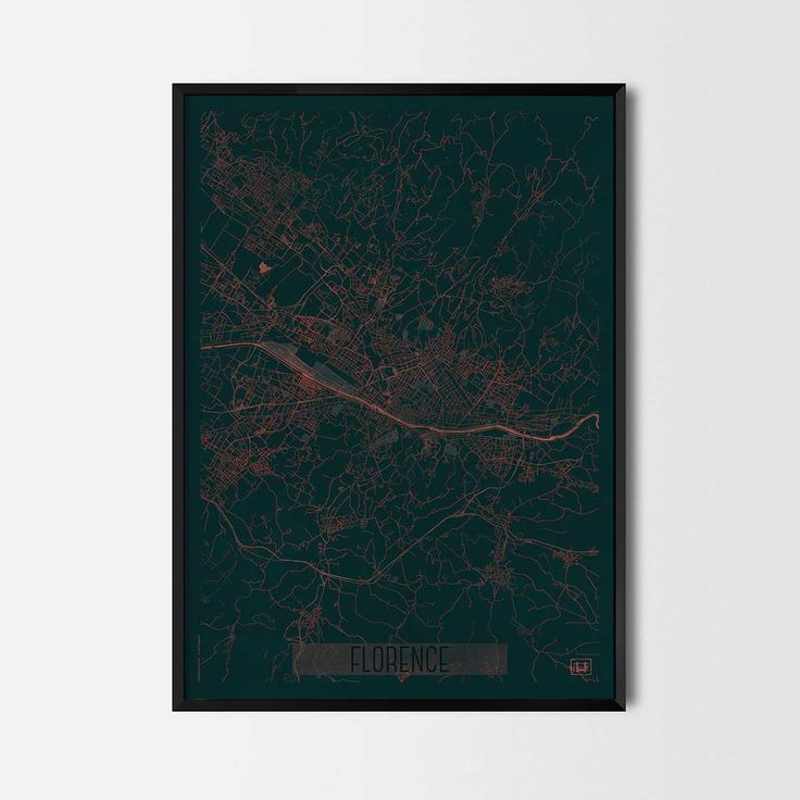 Florence city posters -Art posters and prints of your favorite city. Unique design of a map. Perfect for your house and office or as a gift for friend.