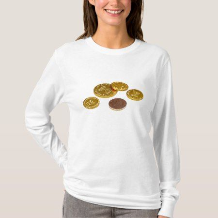 Chocolate gold coins T-Shirt - tap to personalize and get yours