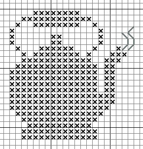 little tea pot cross stitch.