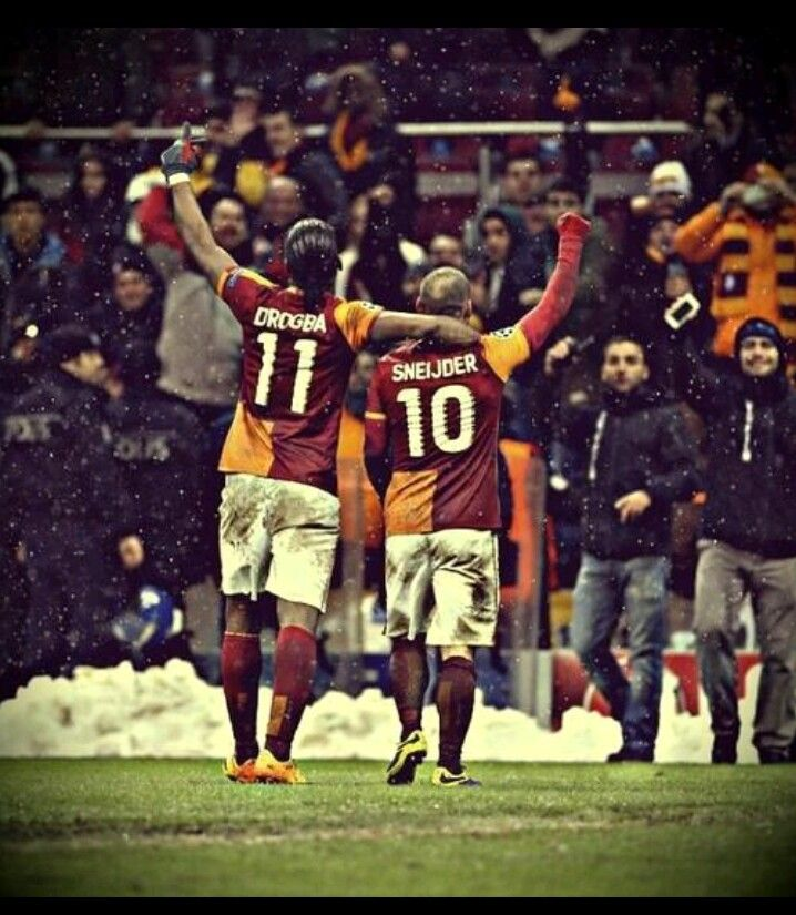 LEGENDS Didier Drogba and Wesley Sneijder
