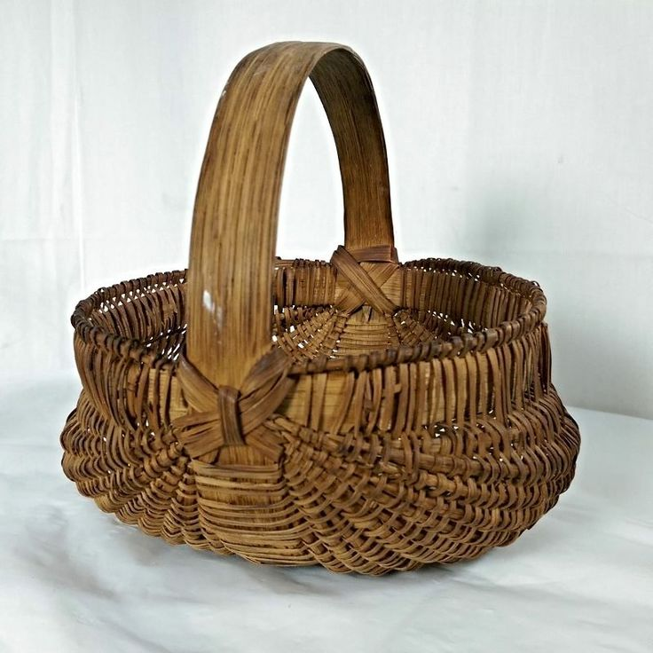 Antique Woven Egg Basket : Best miniature and small baskets images on