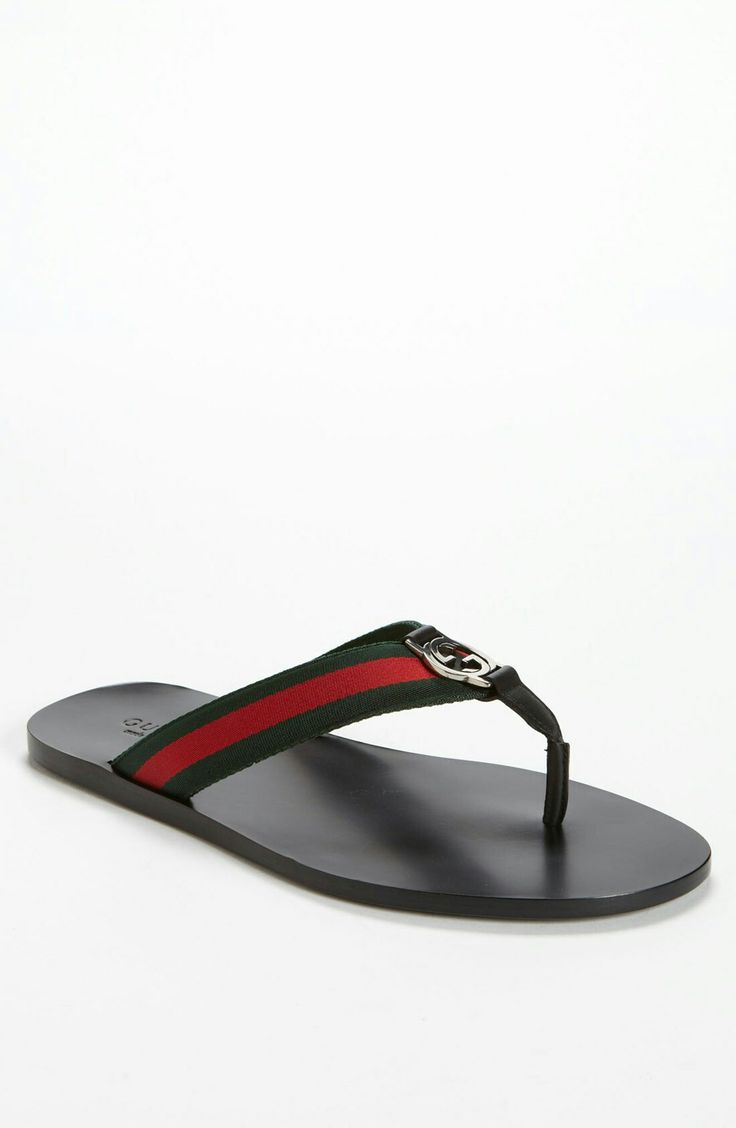 Signature color straps and a metal brand bit define a laid-back flip-flop  in a no-frills design. Style Name: Gucci 'Flip Flip' Flip Flop.