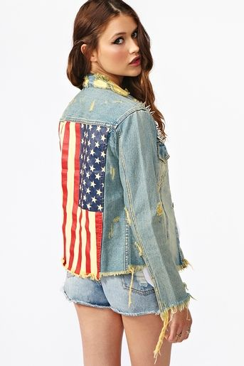 valley of the dolls: Show Your Stars & Stripes: Outfit Inspo- UNIF Americana Denim JacketUnif Americana, Stars, Jackets 168 00, Americana Denim, American Denim, Denim Jackets