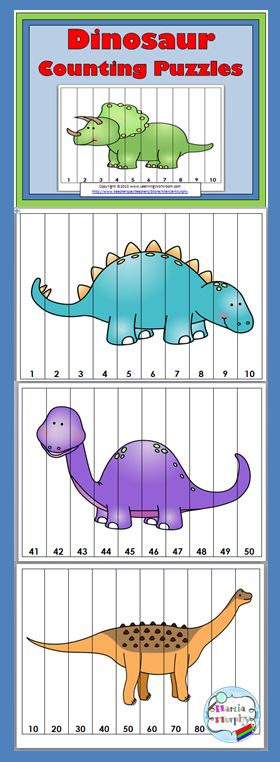 Dinosaur Counting Puzzles More