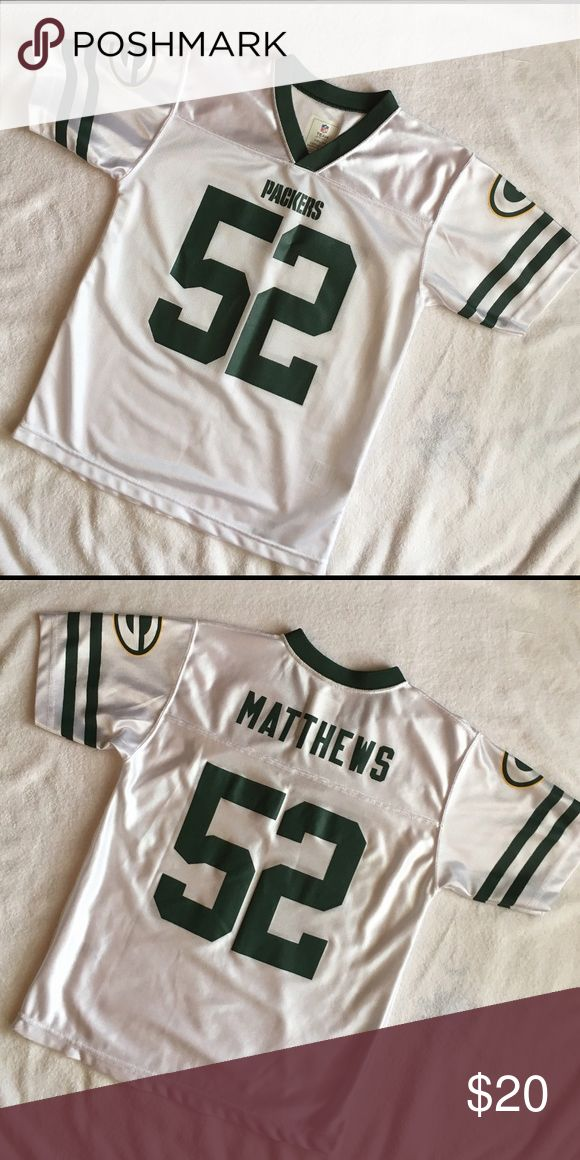 Boys Green Bay Jersey Excellent used condition!! NWOT! #52 Matthews. Medium (10-12) NFL Shirts & Tops Tees - Short Sleeve