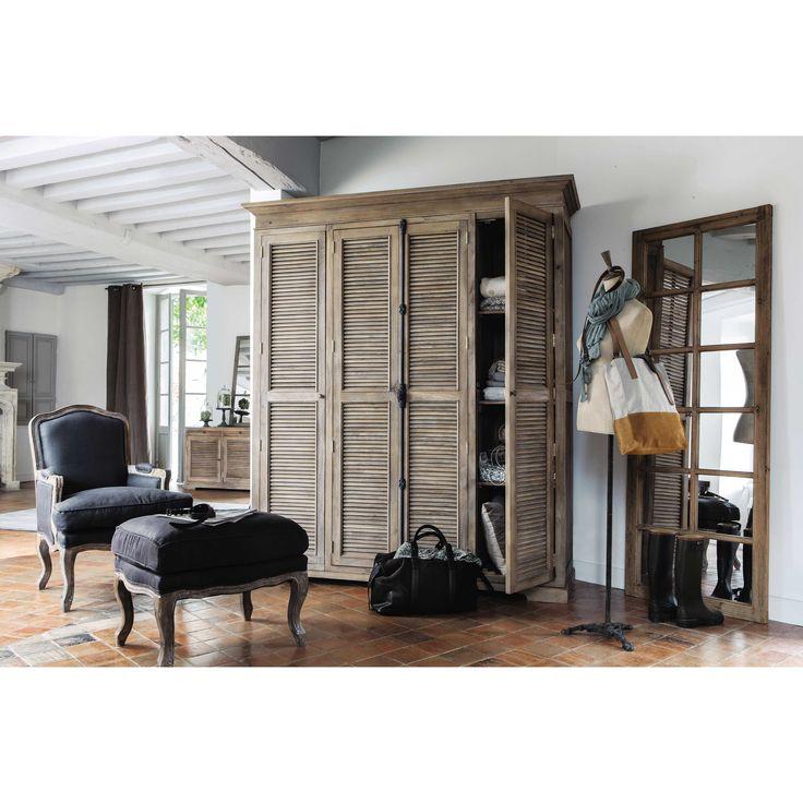 CHAUVIGNY houten venster spiegel H 198 cm | Maisons du Monde