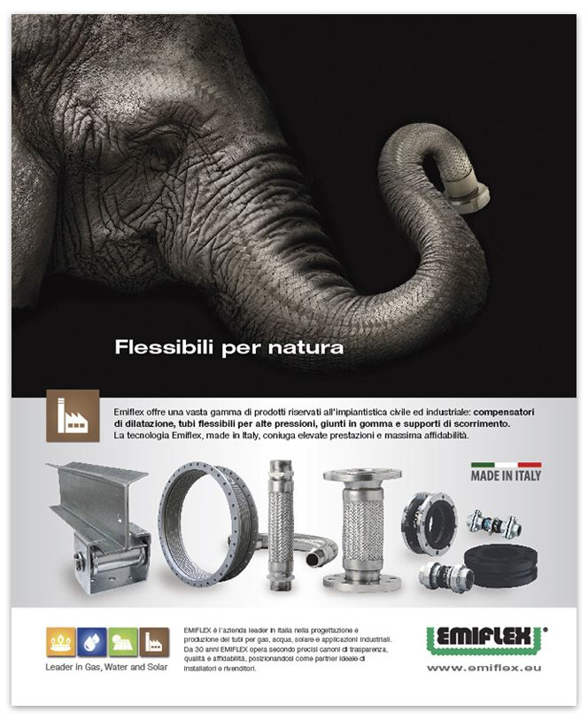 Emiflex Print Campaign: Made in Italy gas & solar equipments.