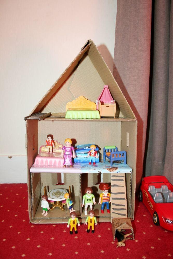 Mes enfants ont des châteaux, des maisons chinées sur le boncoin pour y installer leurs playmobil, mais ils ont découvert, comme leur mère avant eux, que réaliser une maison soi-même était bien plu…
