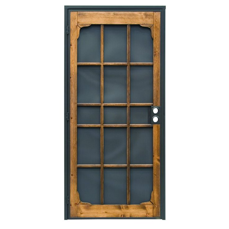 Prime-Line Products 3809BZ3068-I-WF Woodguard Steel Security Door, 36 in. x 80 in., Steel & Wood Construction, Non-Handed, Bronze