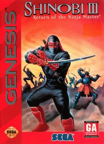 """Shinobi III: Return of the Ninja Master"" Sega Genesis game (Sega)"