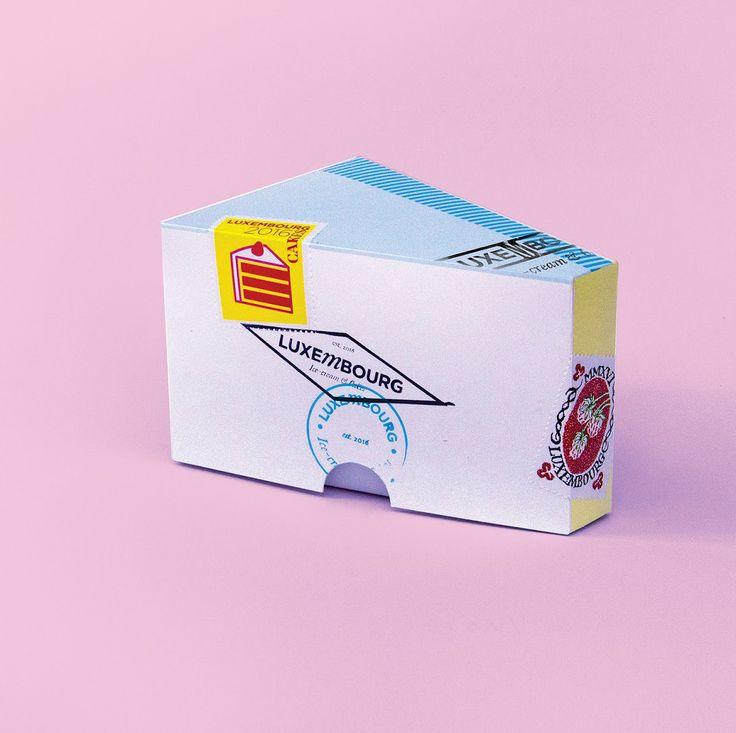 Сербский дизайнер Jasmina Zornic создала дизайн упаковки для пирожных и мороженого изготовленных белградской кондитерской LUXEMBOURG. Упаковка представляет из себя картонные коробки разного размера, оформленные в стилистике почтовых отправлений, логотип LUXEMBOURG (создано более десятка разновидностей) стилизован под почтовые штемпели и почтовые марки.  http://am.antech.ru/tv8D