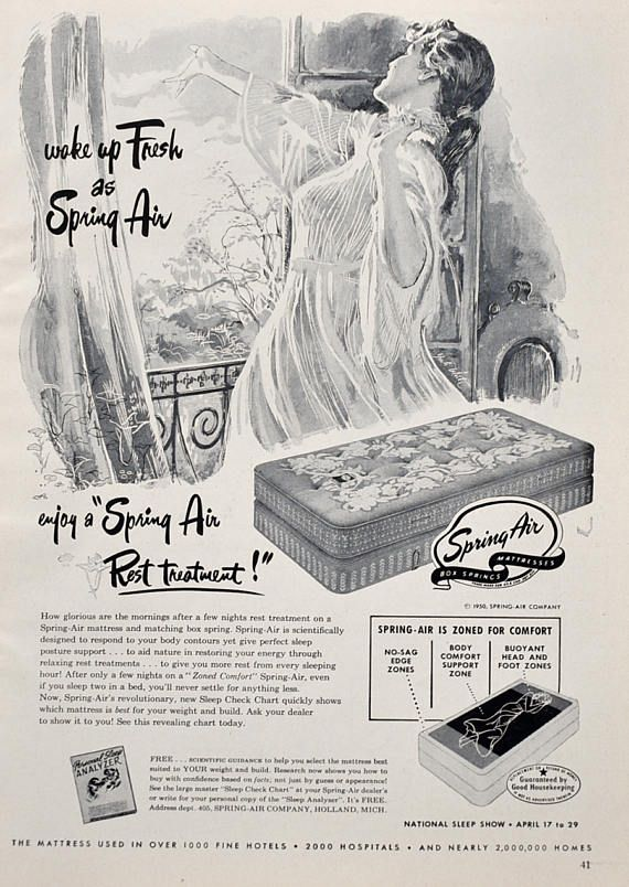 1950 Spring Air Mattress Ad  |  #RetroReveries
