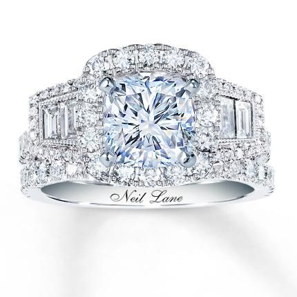 Neil Lane Bridal 1 1/3 ct tw Diamonds 14K Gold Bridal Setting $3,799.99 Diamond Sidestone Cuts: APPROXIMATELY 52 ROUNDS AND 4 BAGUETTES