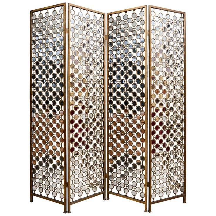 Good Mirrored And Metal Divider Screen