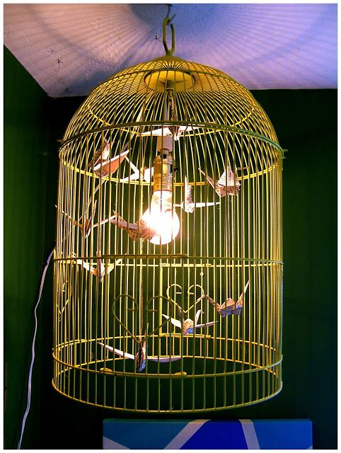 Nine Red: How To: Bird Cage Chandelier