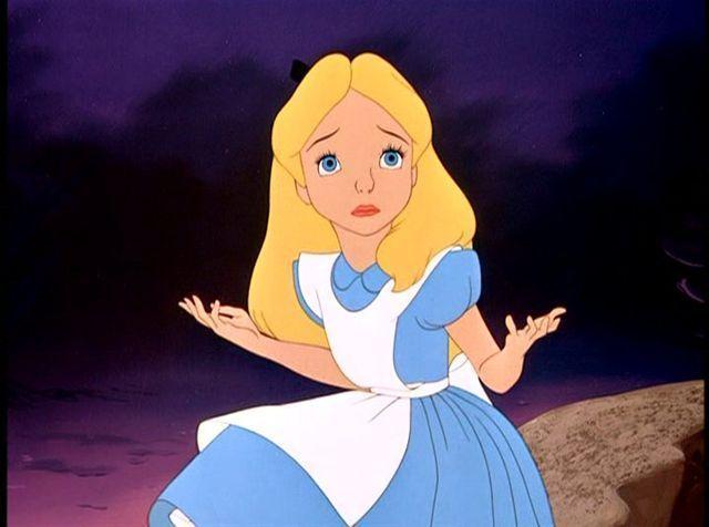Alice in Wonderland Cartoon Falling | Alice in Wonderland Alice in Wonderland - 1951