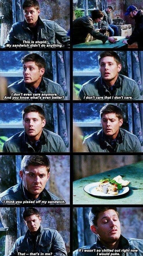 Dean's Turducken sandwich 😂    | Supernatural