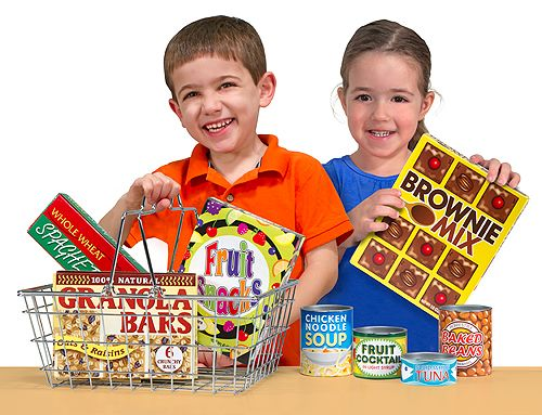 Let's Play House! Grocery Basket with Play Food | Play Food | Melissa and Doug