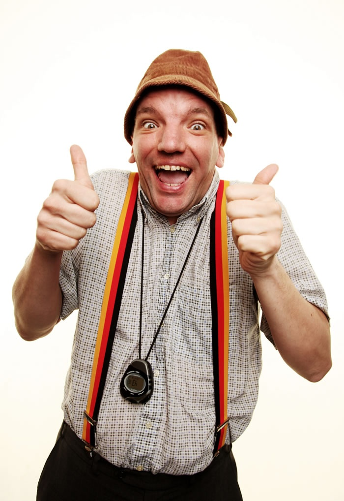 "Henning Wehn, the ""German Comedy Ambassador."" This guy is so hilarious and wonderful. Check out all sorts of hilarity at his website, http://www.henningwehn.de/biog.htm"